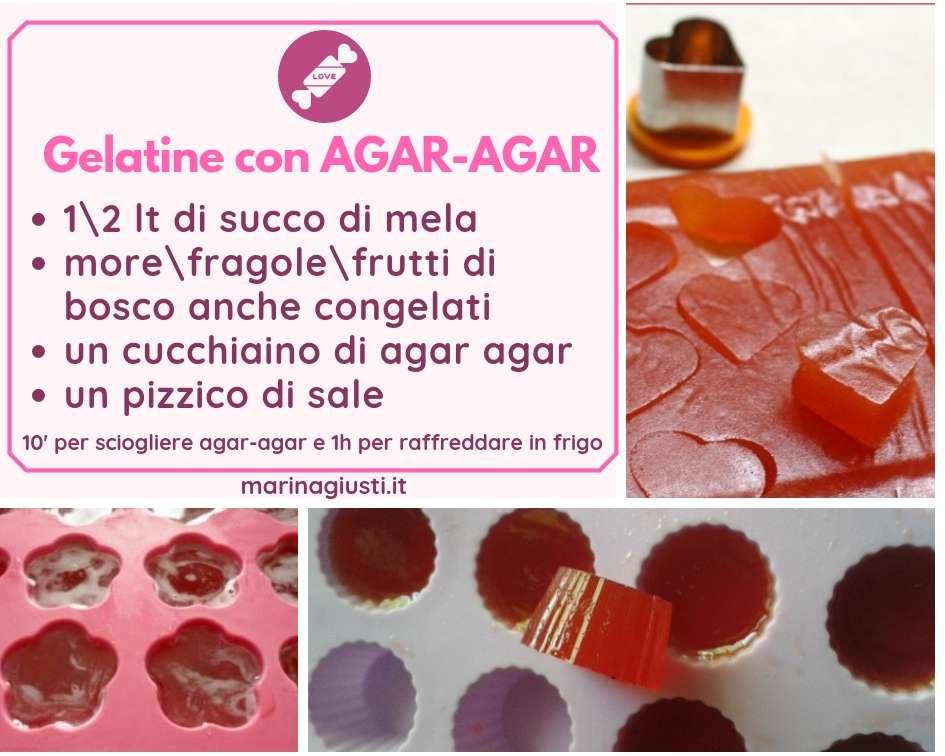 caramelle gelatina alla frutta
